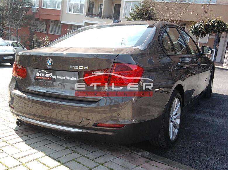 Kahverengi BMW 3.20 Dizel Arka Sol Görünüm