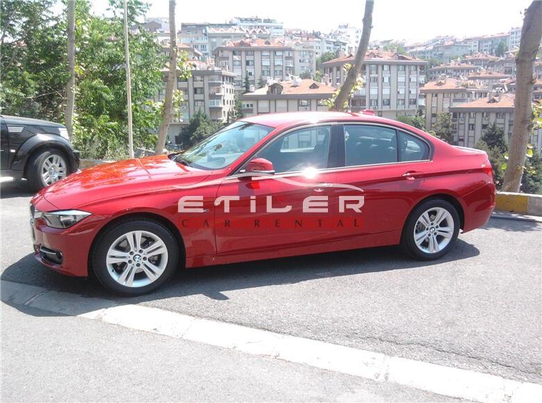 Kırmızı BMW 3.20 Dizel Sol Görünüm