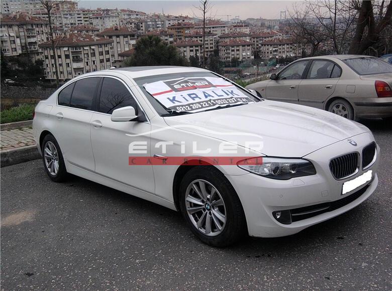 2012 Beyaz BMW 5.20 Dizel Sol Ön Görünüm