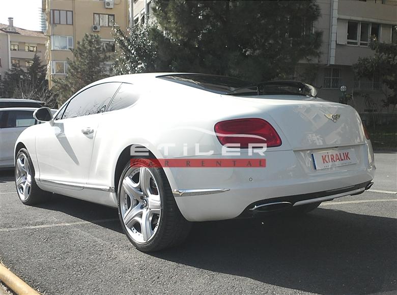 Beyaz Bentley Continental Sol Arka Görünüm