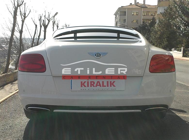Beyaz Bentley Continental Arka Görünüm
