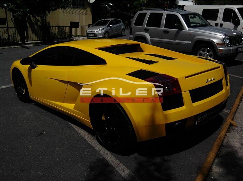 2006 Sarı Lamborghini Gallardo Sol Arka Görünüm