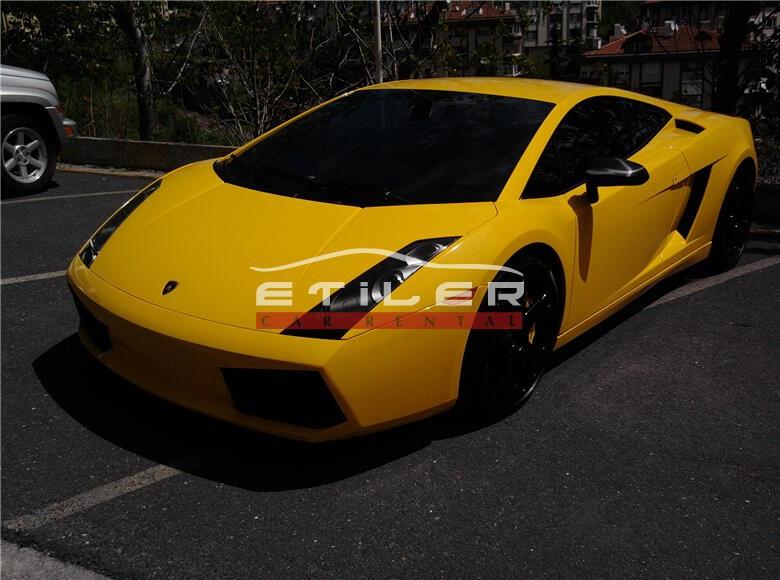 2006 Sarı Lamborghini Gallardo Sol Ön Görünüm