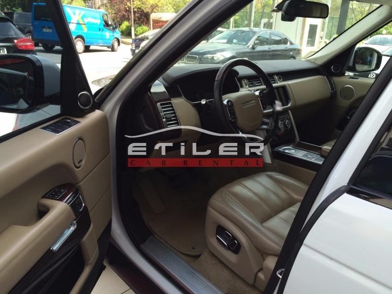 Beyaz Range Rover İç Görünüm