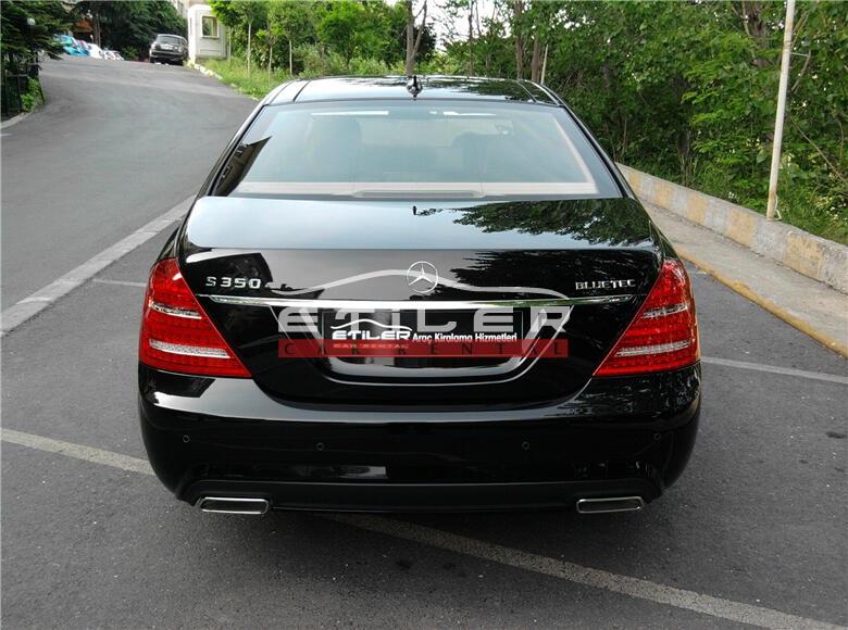 2012 Siyah Mercedes S350 CDI L 4 matıc Arka Görünüm