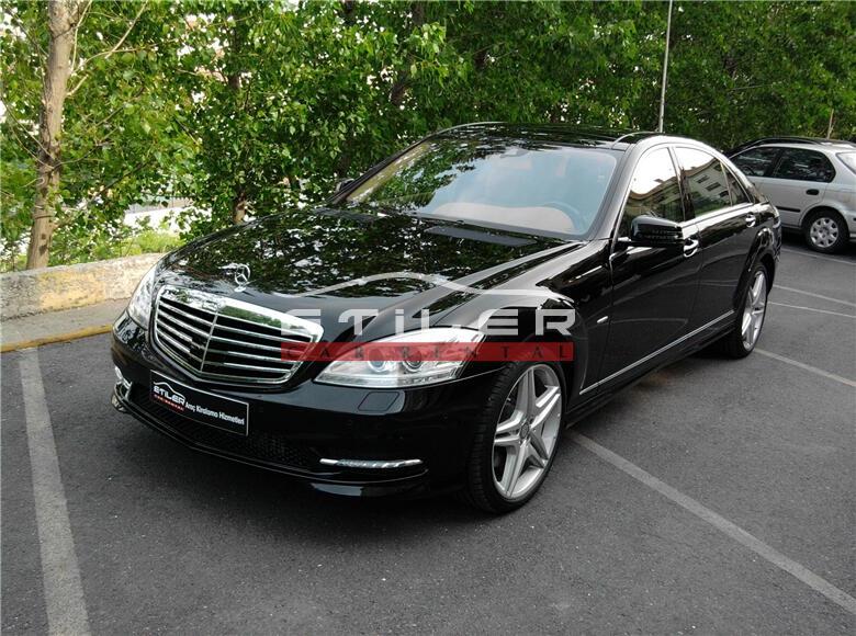 2012 Siyah Mercedes S350 CDI L 4 matıc Sol Ön Görünüm