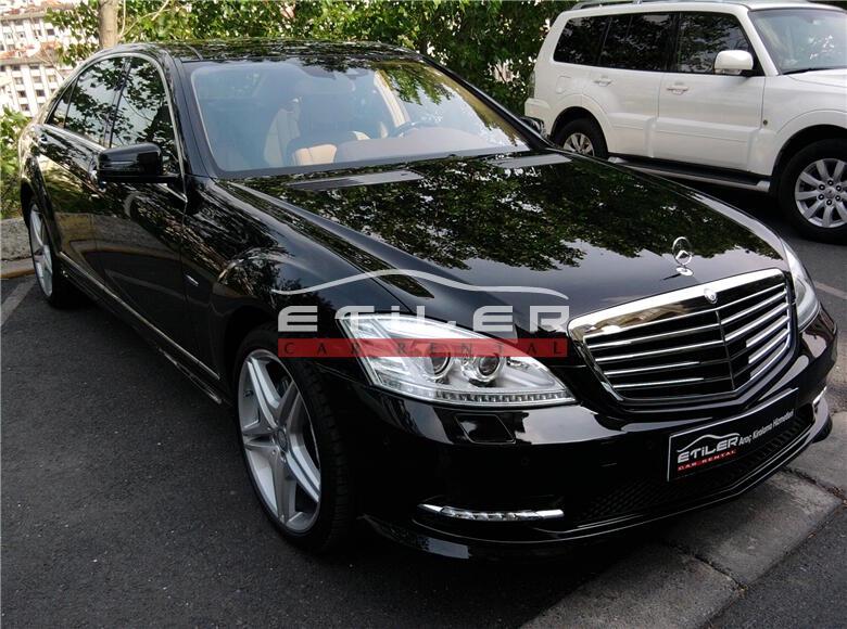 2012 Siyah Mercedes S350 CDI L 4 matıc Sağ Ön Görünüm