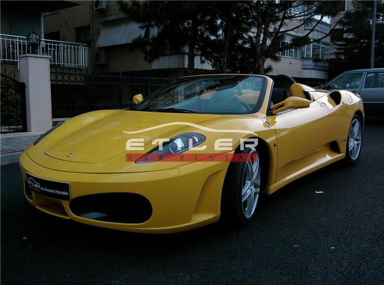 Sarı Ferrari F430 F1 Spider Sol Ön Görünüm